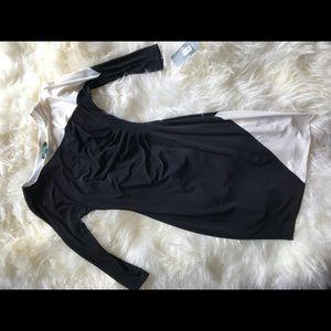 Ralph Lauren black and white bodycon dress